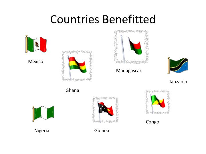 Countries Benefitted