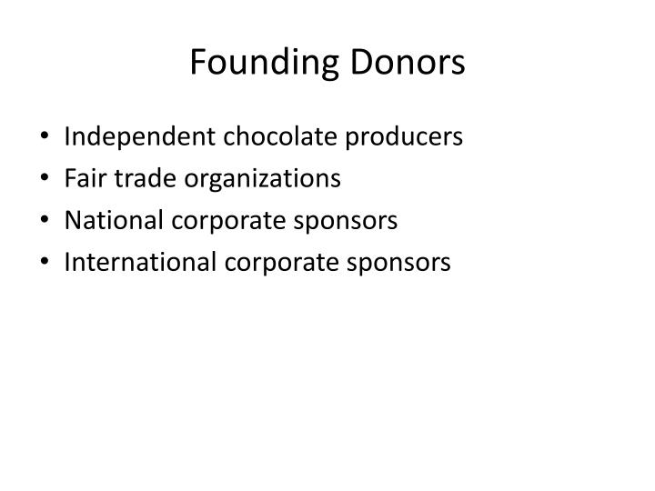 Founding Donors