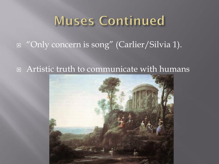 Muses Continued