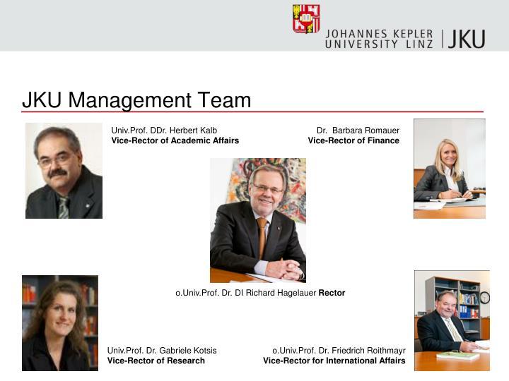 JKU Management Team