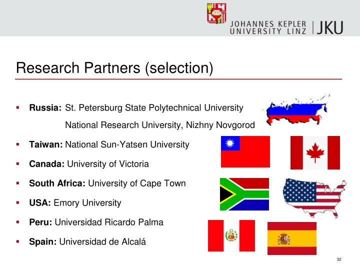 Research Partners (selection)