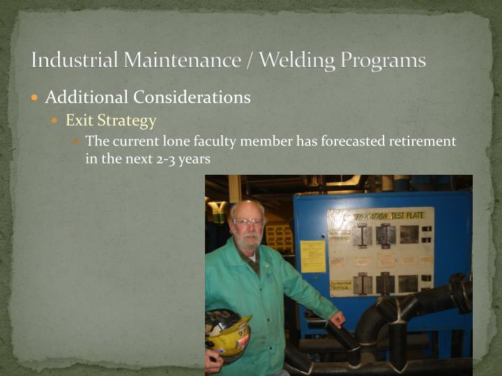 Industrial Maintenance / Welding Programs