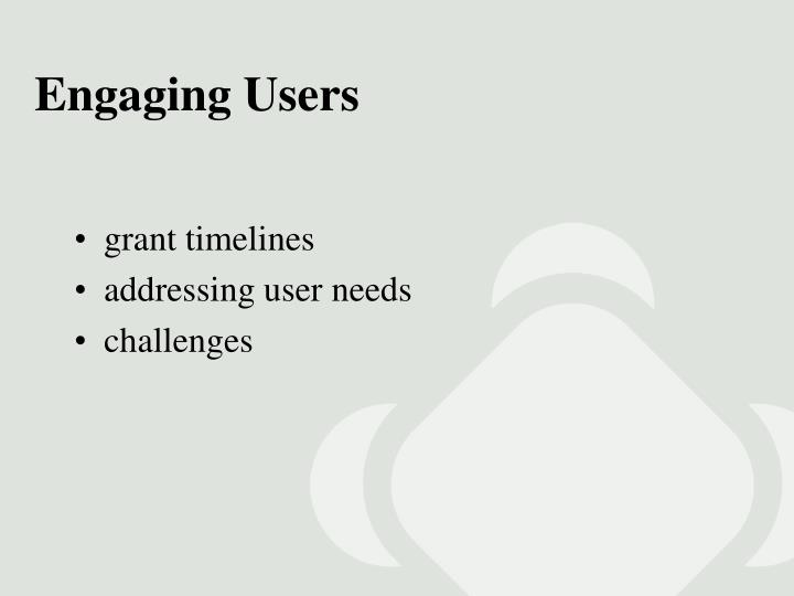 Engaging Users
