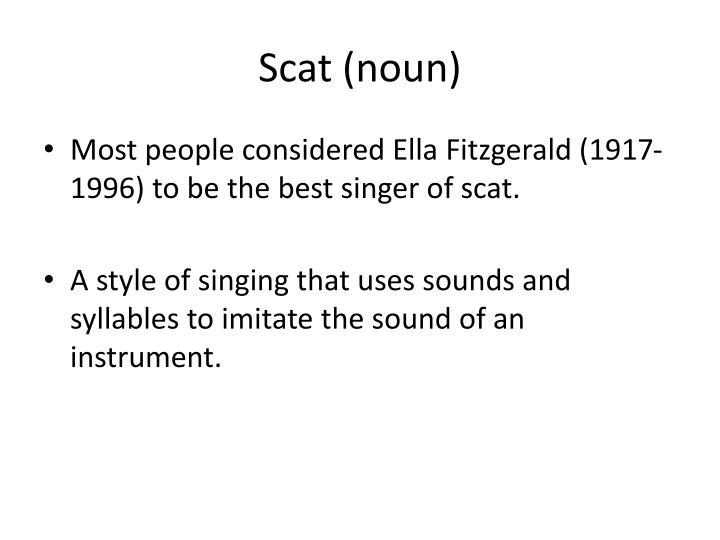Scat (noun)
