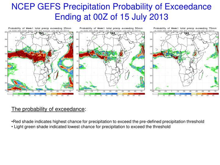 NCEP GEFS Precipitation Probability of