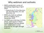 why webinars and outlooks