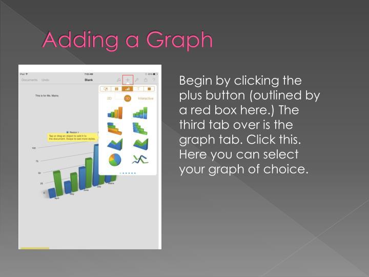 Adding a Graph