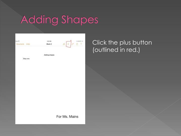 Adding Shapes