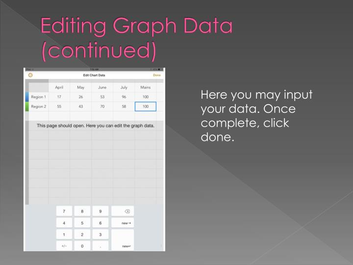 Editing Graph Data (continued)