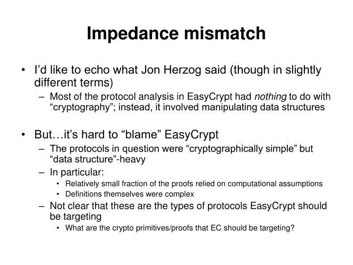 Impedance mismatch
