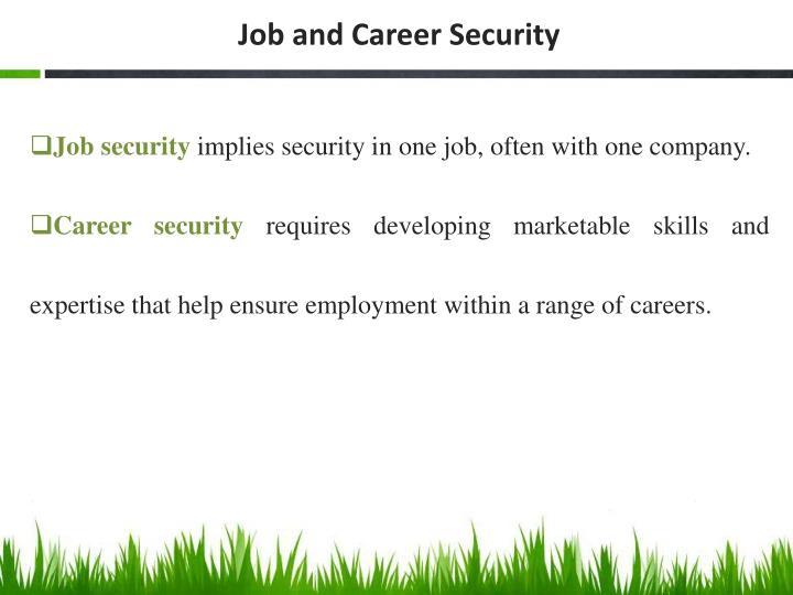 Job and Career Security