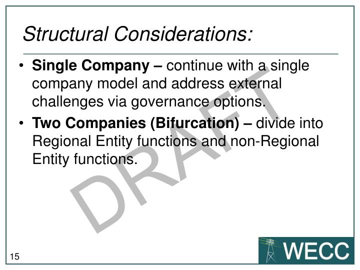 Structural Considerations:
