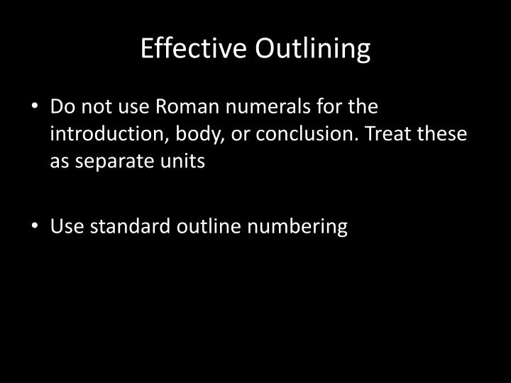 Effective Outlining