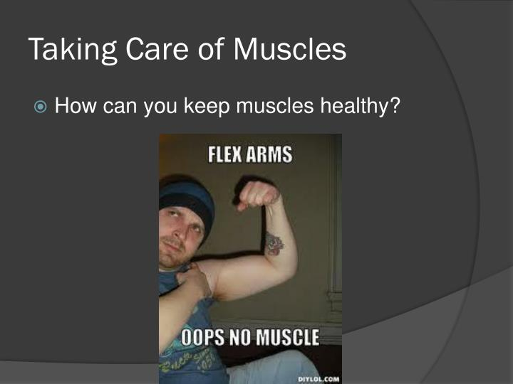Taking Care of Muscles