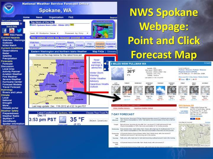 NWS Spokane Webpage: