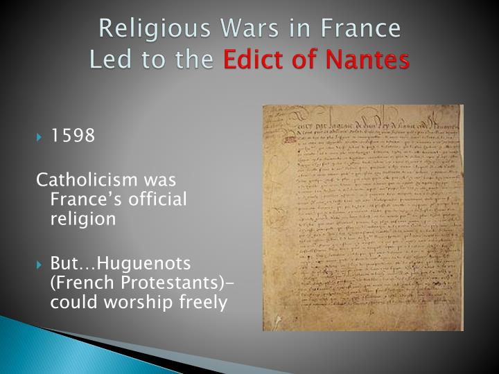 Religious Wars in France