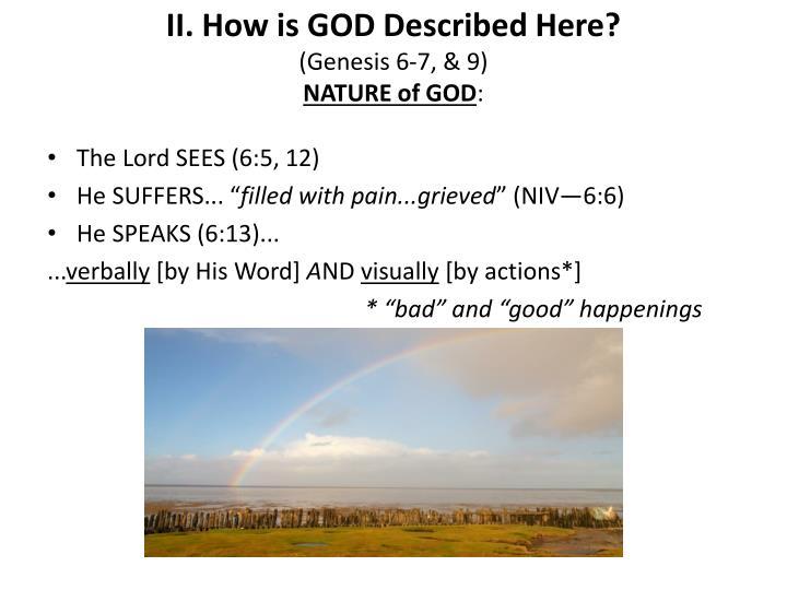 II. How is GOD Described Here?