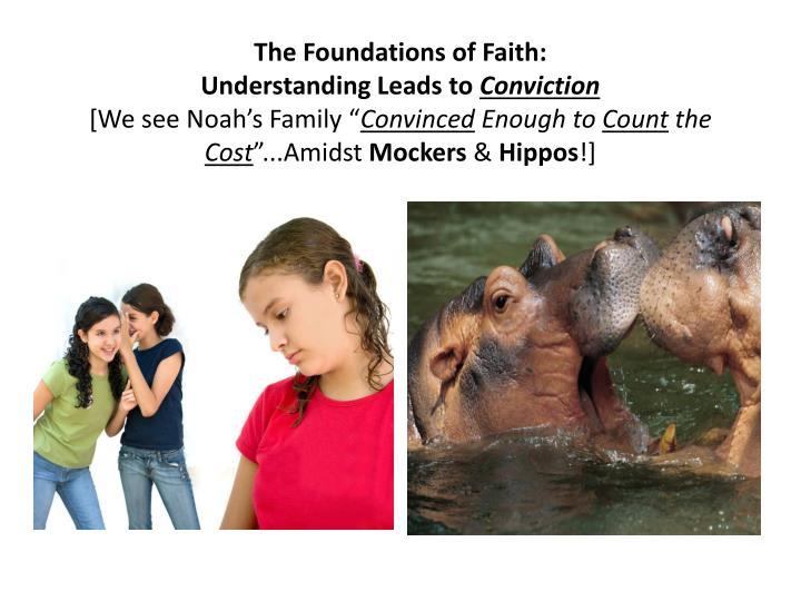 The Foundations of Faith: