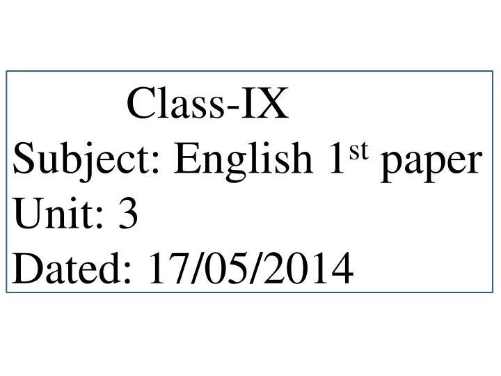 Class-IX