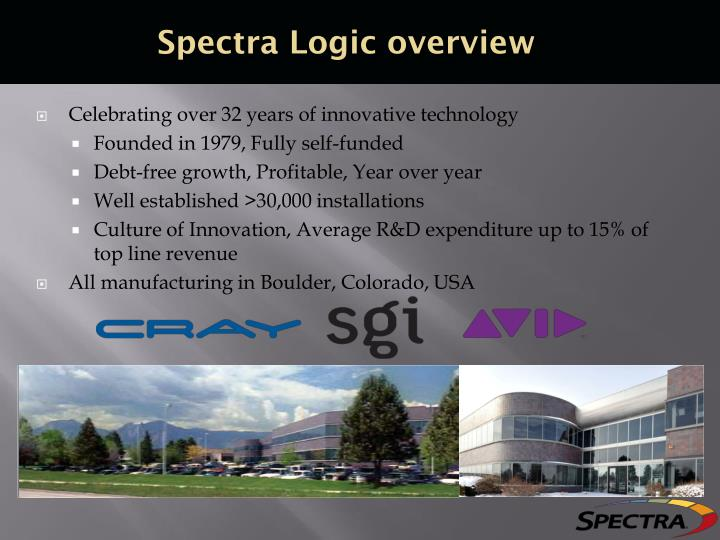 Spectra Logic overview