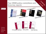 four sreb policy committees and three key reports
