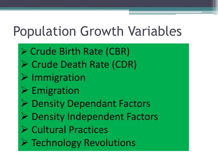 Population Growth Variables