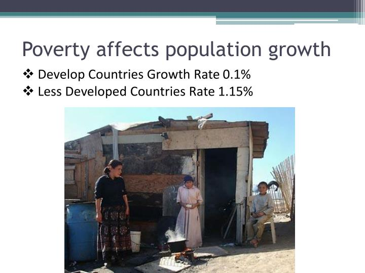 Poverty affects population growth