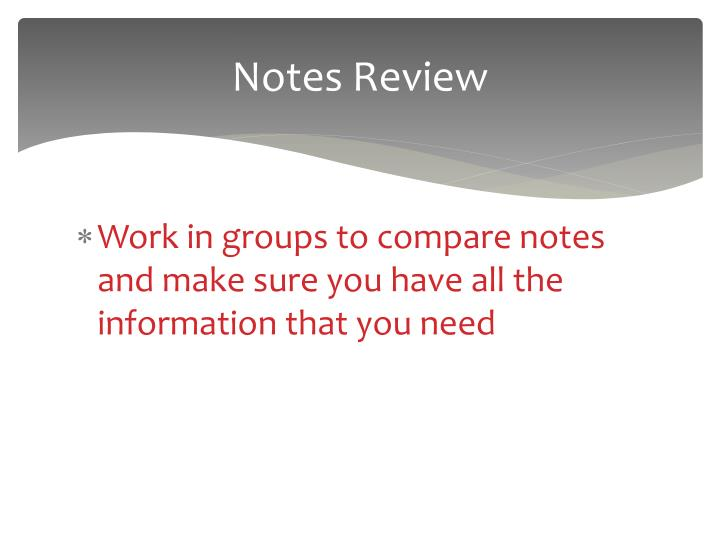 Notes Review
