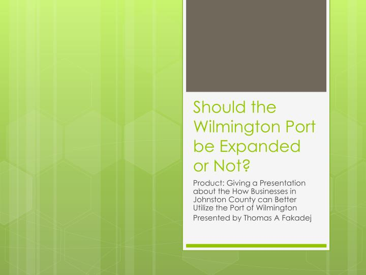should the wilmington port be expanded or not