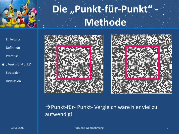 """Die """"Punkt-für-Punkt"""" -Methode"""