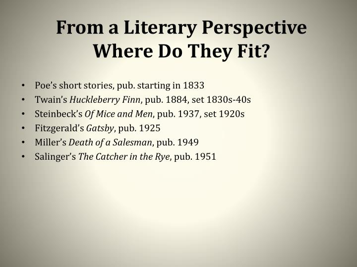 From a Literary Perspective