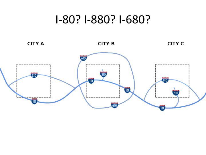 I-80? I-880? I-680?
