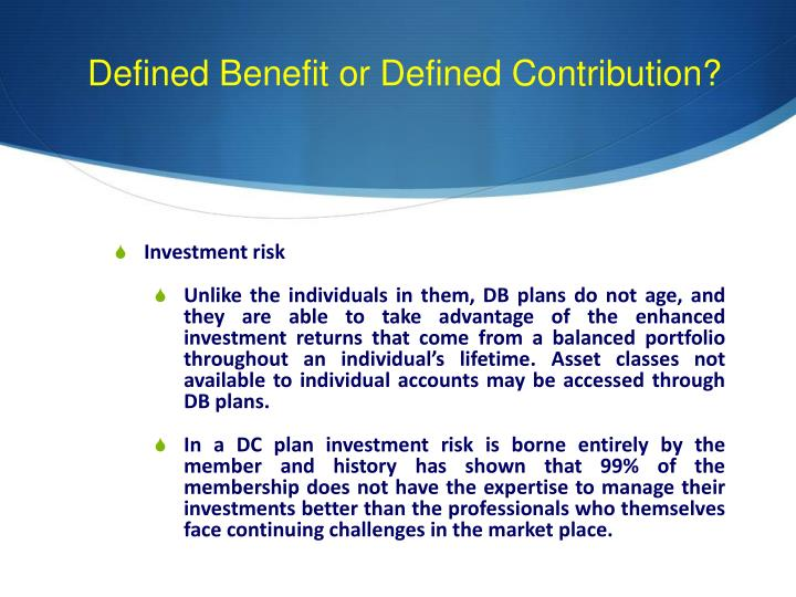 Defined Benefit or Defined Contribution?