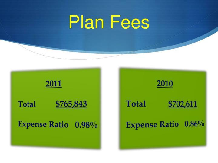 Plan Fees