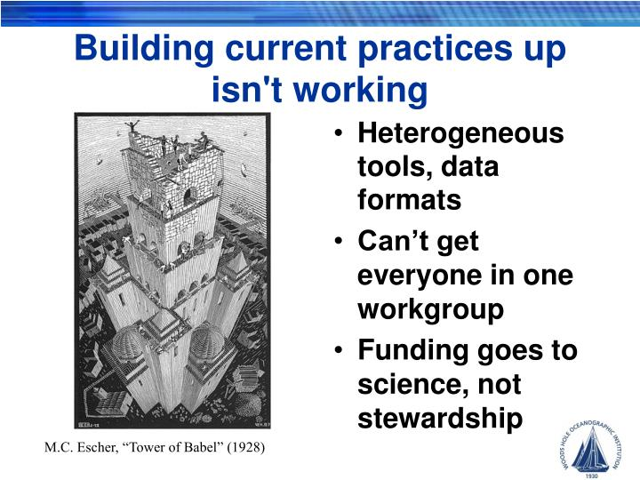 Building current practices up isn't working