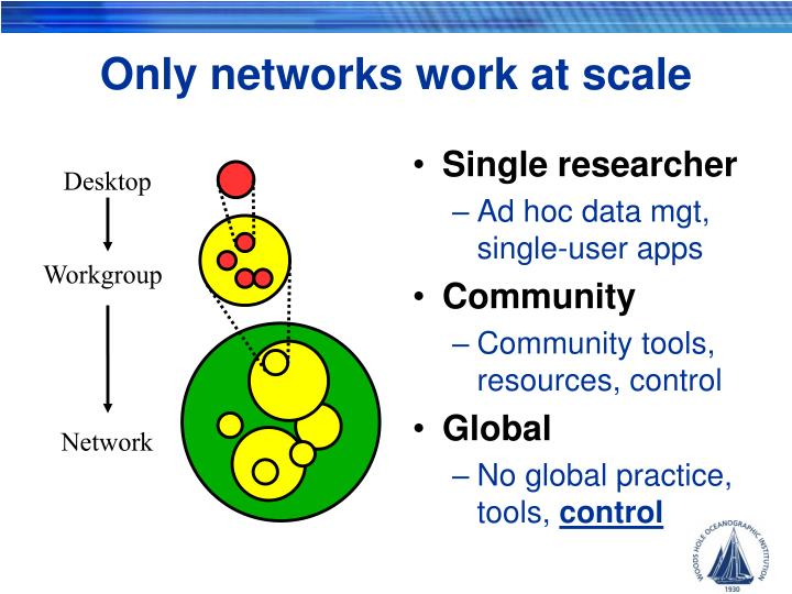 Only networks work at scale