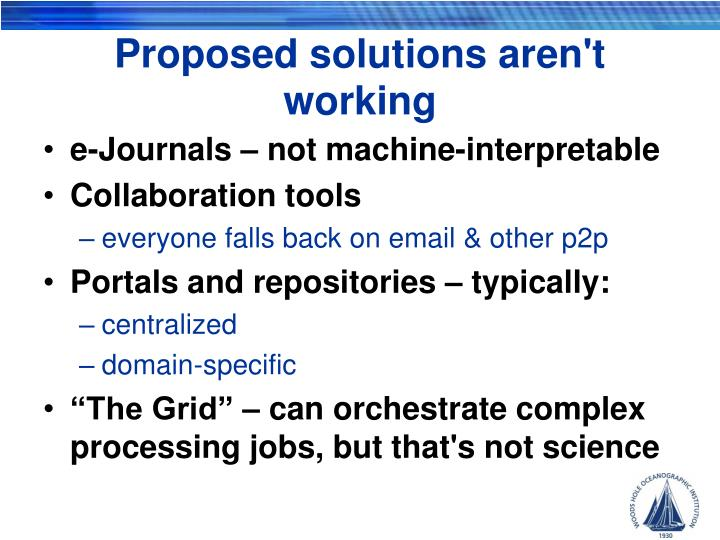 Proposed solutions aren't working