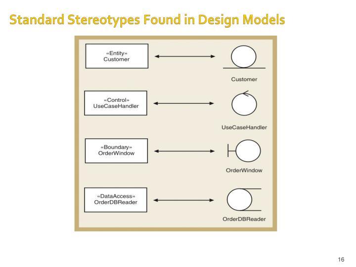 Standard Stereotypes Found in Design Models