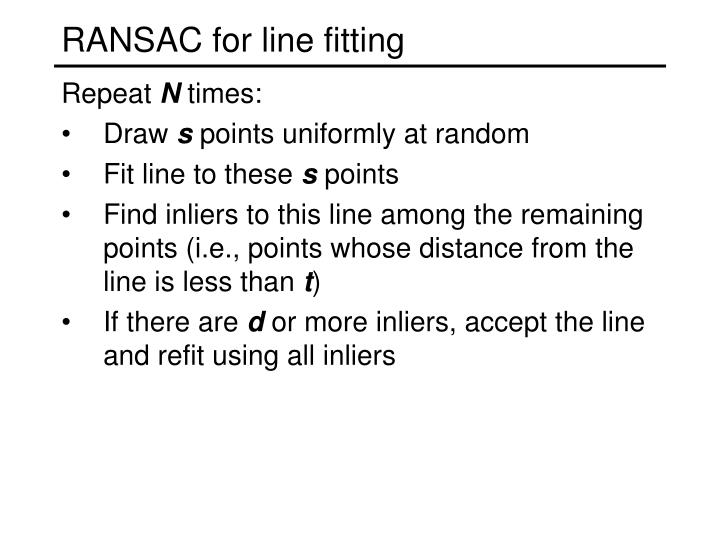 RANSAC for line fitting