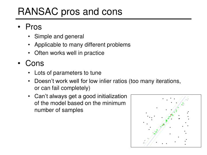 RANSAC pros and cons