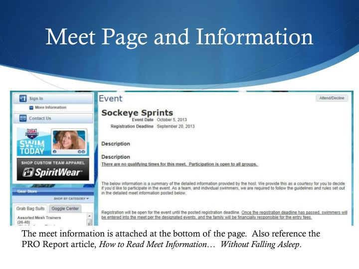 Meet Page and Information