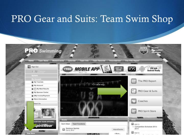 PRO Gear and Suits: Team Swim Shop