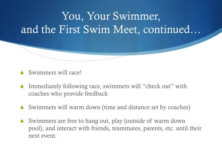 You, Your Swimmer,