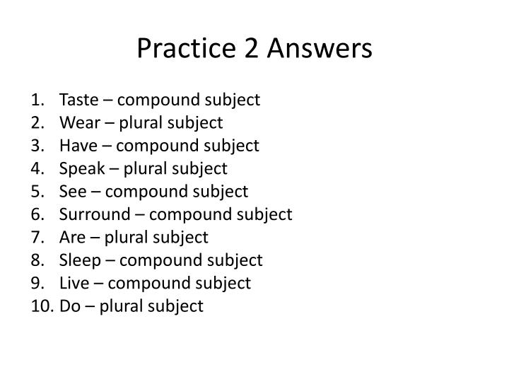 Practice 2 Answers