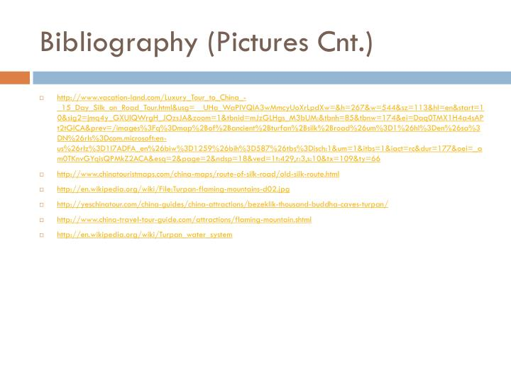 Bibliography (Pictures