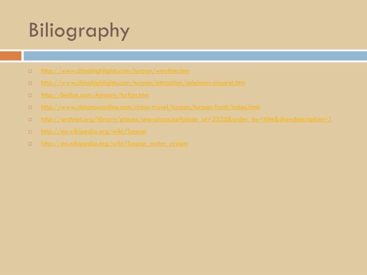 Biliography