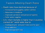 factors affecting death rates