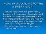 human population growth a brief history