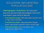 solutions influencing population size