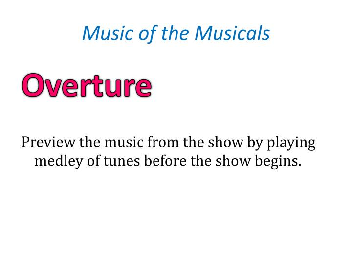 Music of the Musicals